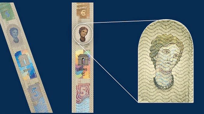 Помимо улучшенных элементов безопасности, банкноту будет украшать портрет «Европы» из греческой мифологии.