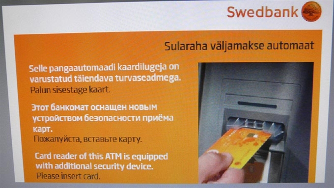 Новое устройство установлено на 15 банкоматов в Таллине и Харьюмаа. Фото: ERR .