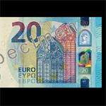 Новая 20-евровая купюра. Сайт: https://ru.wikipedia.org .