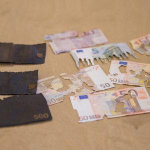Испорченные денежные знаки. Фото: Банк Эстонии.