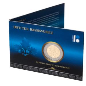 Монетная карта, выпущенная Банком Эстонии в 2017 году в честь годовщины независимости Эстонской Республики. Фото: muuseum.eestipank.ee.